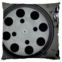 Turntable Record System Tones Large Cushion Case (one Side) by Simbadda