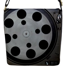 Turntable Record System Tones Flap Messenger Bag (s) by Simbadda