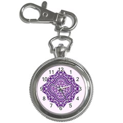 Mandala Purple Mandalas Balance Key Chain Watches by Simbadda