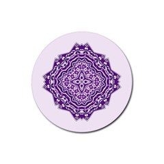 Mandala Purple Mandalas Balance Rubber Round Coaster (4 Pack)  by Simbadda
