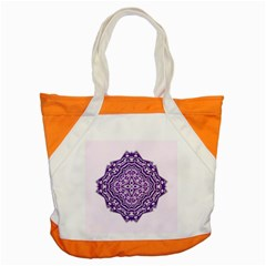 Mandala Purple Mandalas Balance Accent Tote Bag by Simbadda