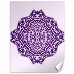Mandala Purple Mandalas Balance Canvas 36  X 48   by Simbadda