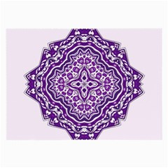 Mandala Purple Mandalas Balance Large Glasses Cloth by Simbadda
