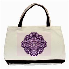Mandala Purple Mandalas Balance Basic Tote Bag (two Sides) by Simbadda