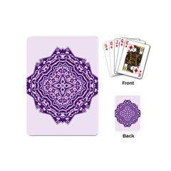 Mandala Purple Mandalas Balance Playing Cards (mini)  by Simbadda