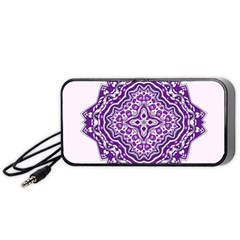Mandala Purple Mandalas Balance Portable Speaker (black) by Simbadda