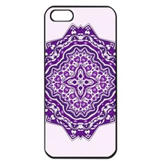 Mandala Purple Mandalas Balance Apple Iphone 5 Seamless Case (black) by Simbadda