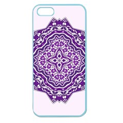 Mandala Purple Mandalas Balance Apple Seamless Iphone 5 Case (color) by Simbadda