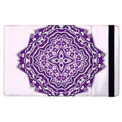 Mandala Purple Mandalas Balance Apple Ipad 3/4 Flip Case by Simbadda