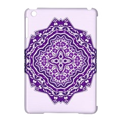 Mandala Purple Mandalas Balance Apple Ipad Mini Hardshell Case (compatible With Smart Cover) by Simbadda