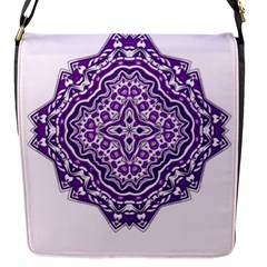 Mandala Purple Mandalas Balance Flap Messenger Bag (s) by Simbadda
