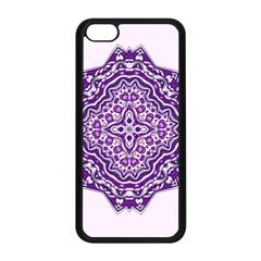 Mandala Purple Mandalas Balance Apple Iphone 5c Seamless Case (black) by Simbadda