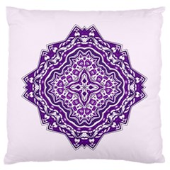 Mandala Purple Mandalas Balance Standard Flano Cushion Case (one Side) by Simbadda