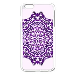 Mandala Purple Mandalas Balance Apple Iphone 6 Plus/6s Plus Enamel White Case by Simbadda