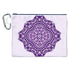 Mandala Purple Mandalas Balance Canvas Cosmetic Bag (xxl) by Simbadda