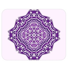 Mandala Purple Mandalas Balance Double Sided Flano Blanket (medium)  by Simbadda