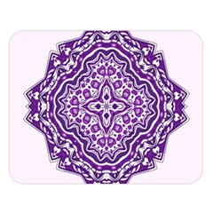 Mandala Purple Mandalas Balance Double Sided Flano Blanket (large)  by Simbadda