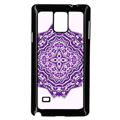 Mandala Purple Mandalas Balance Samsung Galaxy Note 4 Case (black) by Simbadda