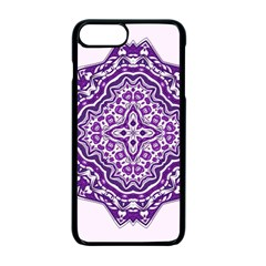 Mandala Purple Mandalas Balance Apple Iphone 7 Plus Seamless Case (black) by Simbadda