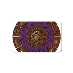 Zodiak Zodiac Sign Metallizer Art Magnet (name Card) by Simbadda