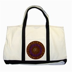 Zodiak Zodiac Sign Metallizer Art Two Tone Tote Bag by Simbadda