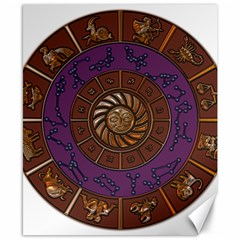 Zodiak Zodiac Sign Metallizer Art Canvas 8  X 10  by Simbadda