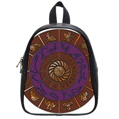 Zodiak Zodiac Sign Metallizer Art School Bags (small)  by Simbadda