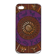Zodiak Zodiac Sign Metallizer Art Apple Iphone 4/4s Seamless Case (black) by Simbadda