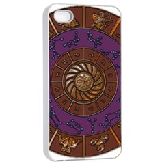 Zodiak Zodiac Sign Metallizer Art Apple Iphone 4/4s Seamless Case (white) by Simbadda
