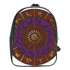 Zodiak Zodiac Sign Metallizer Art School Bags (xl)  by Simbadda