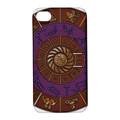 Zodiak Zodiac Sign Metallizer Art Apple Iphone 4/4s Hardshell Case With Stand by Simbadda