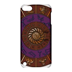 Zodiak Zodiac Sign Metallizer Art Apple Ipod Touch 5 Hardshell Case With Stand by Simbadda