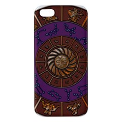 Zodiak Zodiac Sign Metallizer Art Apple Iphone 5 Premium Hardshell Case by Simbadda