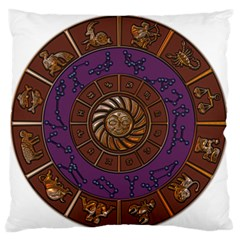 Zodiak Zodiac Sign Metallizer Art Standard Flano Cushion Case (two Sides) by Simbadda