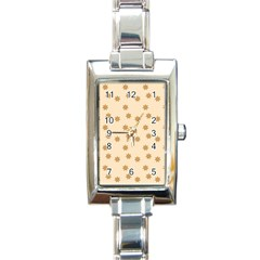 Pattern Gingerbread Star Rectangle Italian Charm Watch by Simbadda