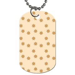 Pattern Gingerbread Star Dog Tag (two Sides) by Simbadda