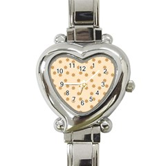 Pattern Gingerbread Star Heart Italian Charm Watch by Simbadda