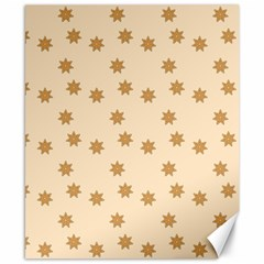 Pattern Gingerbread Star Canvas 8  X 10  by Simbadda
