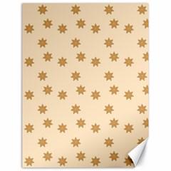 Pattern Gingerbread Star Canvas 18  X 24   by Simbadda