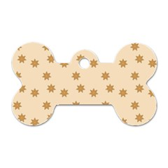 Pattern Gingerbread Star Dog Tag Bone (two Sides) by Simbadda
