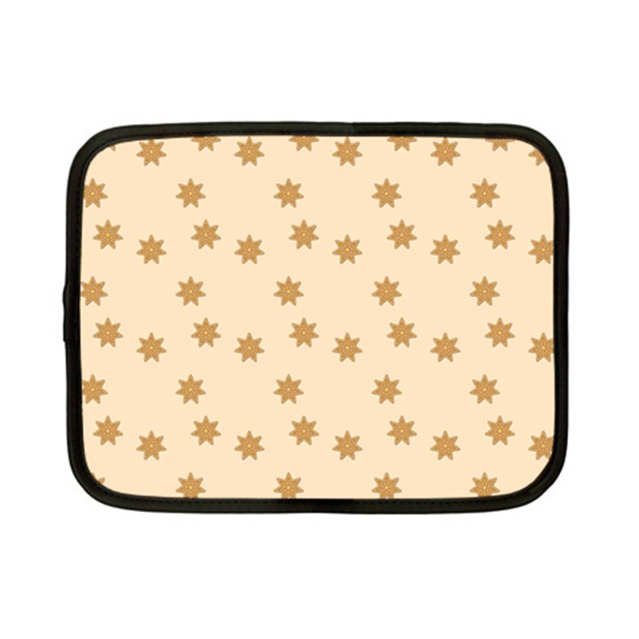 Pattern Gingerbread Star Netbook Case (Small)