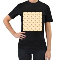 Pattern Gingerbread Star Women s T Shirt (black) by Simbadda