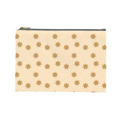 Pattern Gingerbread Star Cosmetic Bag (large)  by Simbadda
