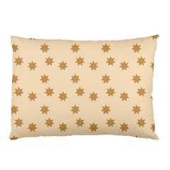 Pattern Gingerbread Star Pillow Case (two Sides) by Simbadda