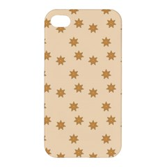 Pattern Gingerbread Star Apple Iphone 4/4s Hardshell Case by Simbadda
