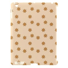 Pattern Gingerbread Star Apple Ipad 3/4 Hardshell Case (compatible With Smart Cover) by Simbadda