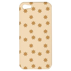 Pattern Gingerbread Star Apple Iphone 5 Hardshell Case by Simbadda
