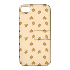 Pattern Gingerbread Star Apple Iphone 4/4s Hardshell Case With Stand by Simbadda