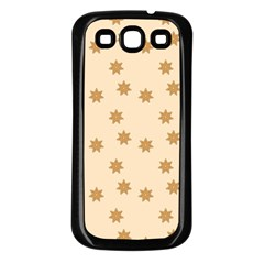 Pattern Gingerbread Star Samsung Galaxy S3 Back Case (black) by Simbadda