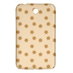 Pattern Gingerbread Star Samsung Galaxy Tab 3 (7 ) P3200 Hardshell Case  by Simbadda